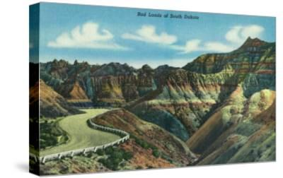 Badlands National Park, South Dakota, General View of the Badlands-Lantern Press-Stretched Canvas Print