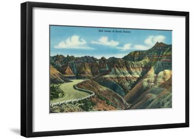 Badlands National Park, South Dakota, General View of the Badlands-Lantern Press-Framed Art Print