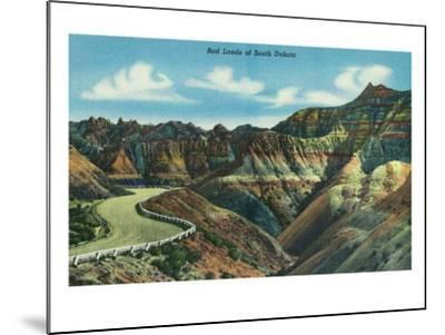 Badlands National Park, South Dakota, General View of the Badlands-Lantern Press-Mounted Art Print