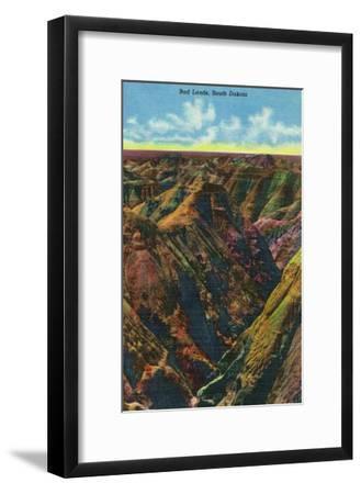 Badlands National Park, South Dakota, Aerial View of the Badlands-Lantern Press-Framed Art Print