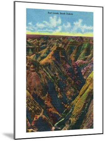 Badlands National Park, South Dakota, Aerial View of the Badlands-Lantern Press-Mounted Art Print