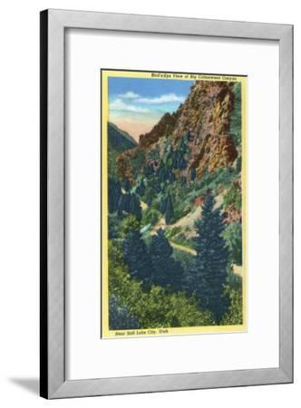 Utah, Aerial View of Big Cottonwood Canyon near Salt Lake City-Lantern Press-Framed Art Print