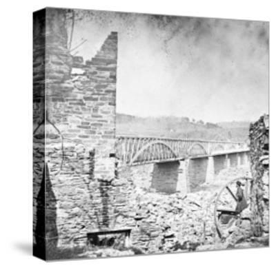 Washington, DC, Chain Bridge Near Washington, Civil War-Lantern Press-Stretched Canvas Print