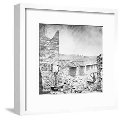 Washington, DC, Chain Bridge Near Washington, Civil War-Lantern Press-Framed Art Print