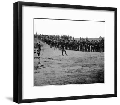 Five Forks, VA, Confederate Prisoners, Civil War-Lantern Press-Framed Art Print
