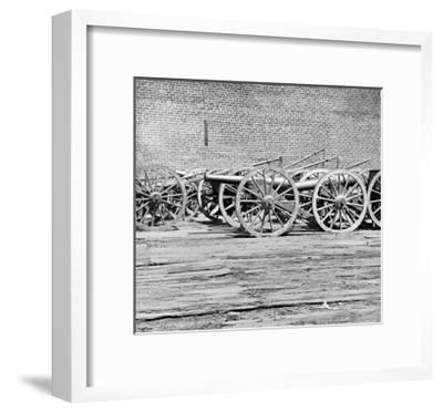 Richmond, VA, Captured Guns, Civil War-Lantern Press-Framed Art Print