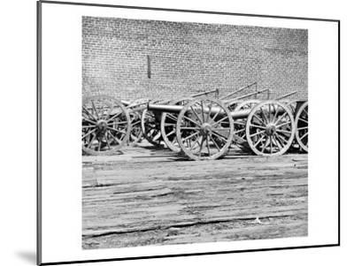 Richmond, VA, Captured Guns, Civil War-Lantern Press-Mounted Art Print