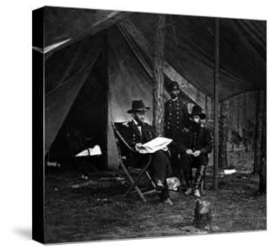 General U.S. Grant in Camp, Civil War-Lantern Press-Stretched Canvas Print