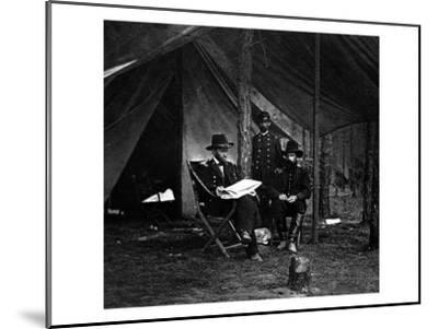 General U.S. Grant in Camp, Civil War-Lantern Press-Mounted Art Print
