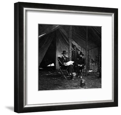 General U.S. Grant in Camp, Civil War-Lantern Press-Framed Art Print