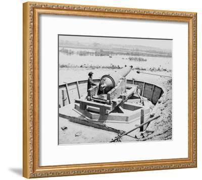 James River, VA, Confederate Battery Above Dutch Gap Canal, Civil War-Lantern Press-Framed Art Print