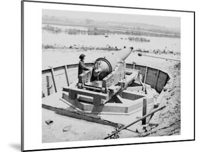 James River, VA, Confederate Battery Above Dutch Gap Canal, Civil War-Lantern Press-Mounted Art Print