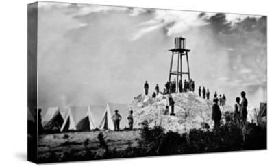 Morris Island, SC, Ruins of Charleston Lighthouse, Civil War-Lantern Press-Stretched Canvas Print