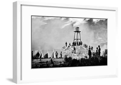 Morris Island, SC, Ruins of Charleston Lighthouse, Civil War-Lantern Press-Framed Art Print