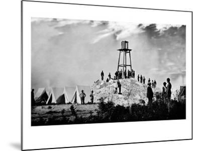 Morris Island, SC, Ruins of Charleston Lighthouse, Civil War-Lantern Press-Mounted Art Print