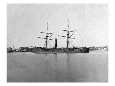 Washington, DC, Ex-Confederate Ship Stonewall at Fort Lincoln, Civil War-Lantern Press-Framed Art Print