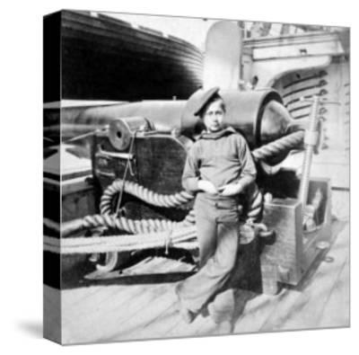 "Charleston, SC, ""Powder Monkey"" aboard U.S.S. New Hampshire, Civil War-Lantern Press-Stretched Canvas Print"