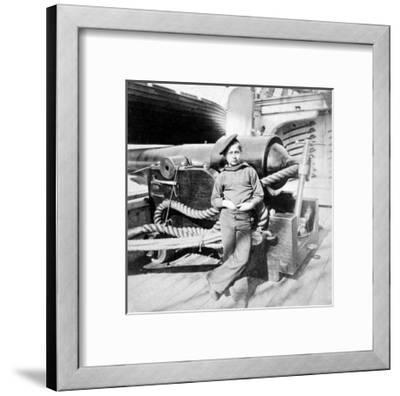 "Charleston, SC, ""Powder Monkey"" aboard U.S.S. New Hampshire, Civil War-Lantern Press-Framed Art Print"