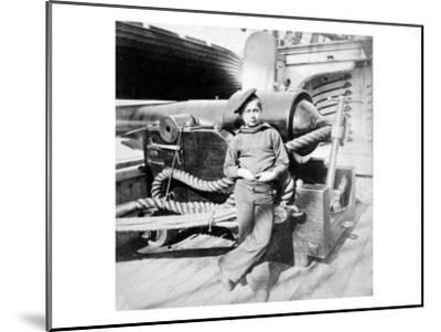"Charleston, SC, ""Powder Monkey"" aboard U.S.S. New Hampshire, Civil War-Lantern Press-Mounted Art Print"