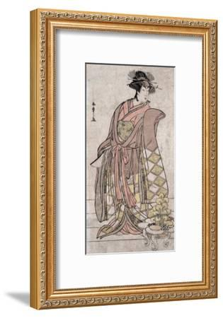 The Actor Segawa Kikunojo, Japanese Wood-Cut Print-Lantern Press-Framed Art Print