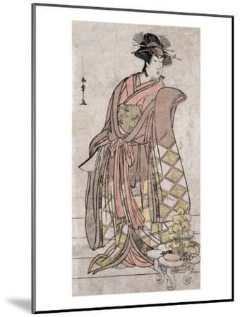 The Actor Segawa Kikunojo, Japanese Wood-Cut Print-Lantern Press-Mounted Art Print