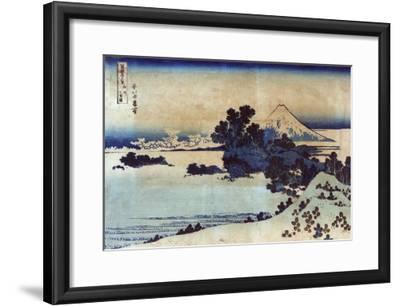 Landscape with Mount Fuji in the Background, Japanese Wood-Cut Print-Lantern Press-Framed Art Print