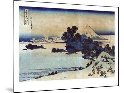 Landscape with Mount Fuji in the Background, Japanese Wood-Cut Print-Lantern Press-Mounted Art Print