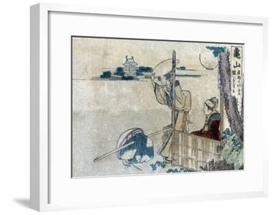Women with Luggage Waiting for a Porter, Japanese Wood-Cut Print-Lantern Press-Framed Art Print