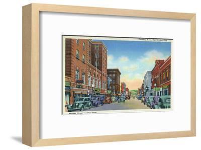 Corning, New York, Eastern View on Market Street of the Crystal City-Lantern Press-Framed Art Print