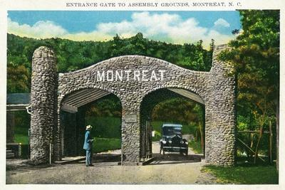 Montreat, North Carolina, Assembly Grounds Entrance Gate View-Lantern Press-Stretched Canvas Print