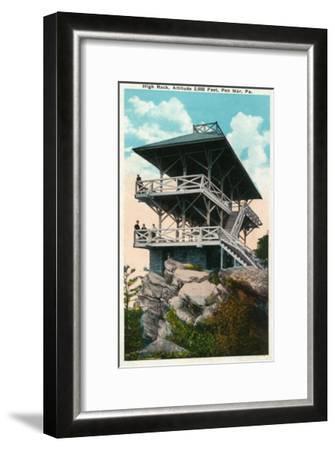 Pen Mar, Pennsylvania, View of High Rock and Tower-Lantern Press-Framed Art Print