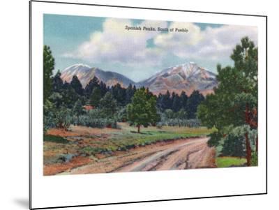 Colorado, View of the Spanish Peaks-Lantern Press-Mounted Art Print