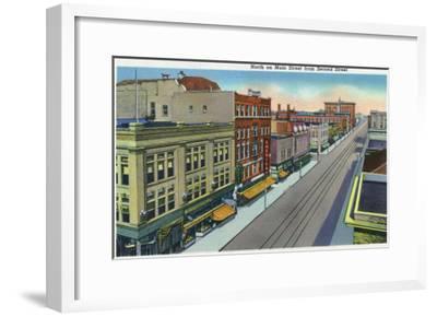 Pueblo, Colorado, Northern View down Main Street from Second Street-Lantern Press-Framed Art Print