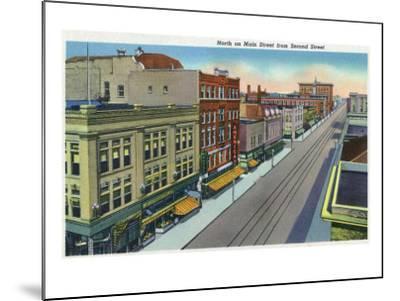 Pueblo, Colorado, Northern View down Main Street from Second Street-Lantern Press-Mounted Art Print