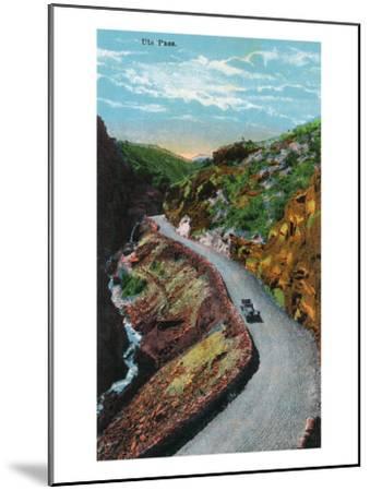 Manitou Springs, Colorado, View of Ute Pass-Lantern Press-Mounted Art Print