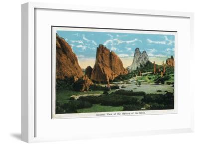 Colorado Springs, Colorado, General View of the Garden of the Gods-Lantern Press-Framed Art Print