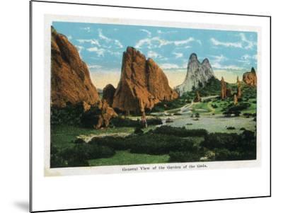 Colorado Springs, Colorado, General View of the Garden of the Gods-Lantern Press-Mounted Art Print