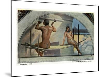 Washington DC, Library of Congress, Evolution of the Book Series View, Hieroglyphics-Lantern Press-Mounted Art Print