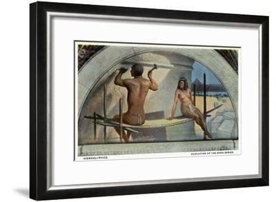 Washington DC, Library of Congress, Evolution of the Book Series View, Hieroglyphics-Lantern Press-Framed Art Print