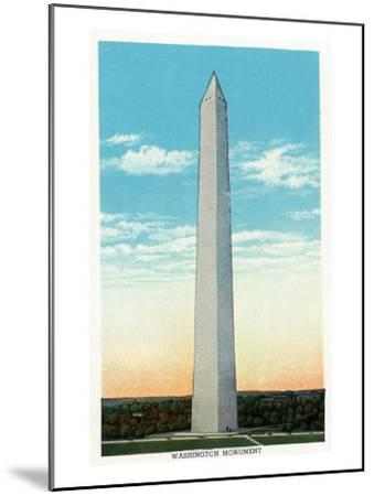 Washington, DC, Exterior View of the Washington Monument-Lantern Press-Mounted Art Print