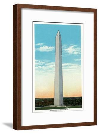 Washington, DC, Exterior View of the Washington Monument-Lantern Press-Framed Art Print