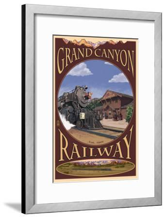 Grand Canyon National Park, Arizona, Grand Canyon Railway-Lantern Press-Framed Art Print