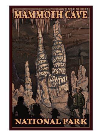 Mammoth Cave National Park, Kentucky, Onxy Pillars-Lantern Press-Framed Art Print