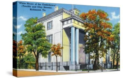 Richmond, VA, Exterior View of the White House of the Confederacy on 12th and Clay St-Lantern Press-Stretched Canvas Print