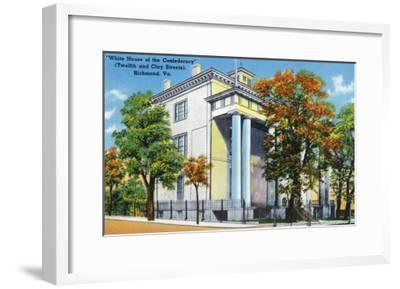 Richmond, VA, Exterior View of the White House of the Confederacy on 12th and Clay St-Lantern Press-Framed Art Print