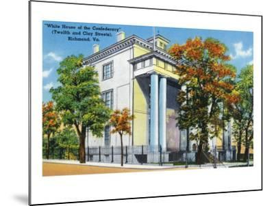 Richmond, VA, Exterior View of the White House of the Confederacy on 12th and Clay St-Lantern Press-Mounted Art Print
