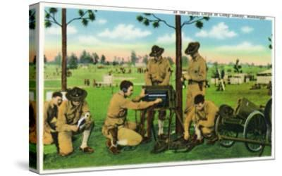 Camp Shelby, Mississippi, View of Soldiers in the Signal Corps-Lantern Press-Stretched Canvas Print