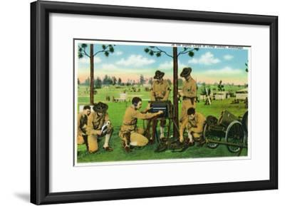 Camp Shelby, Mississippi, View of Soldiers in the Signal Corps-Lantern Press-Framed Art Print