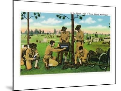 Camp Shelby, Mississippi, View of Soldiers in the Signal Corps-Lantern Press-Mounted Art Print