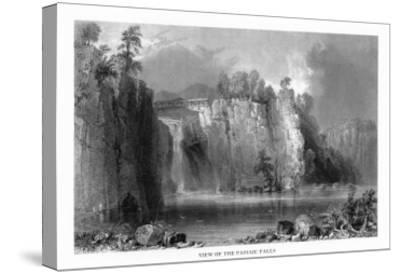 New Jersey, View of the Passaic Falls-Lantern Press-Stretched Canvas Print